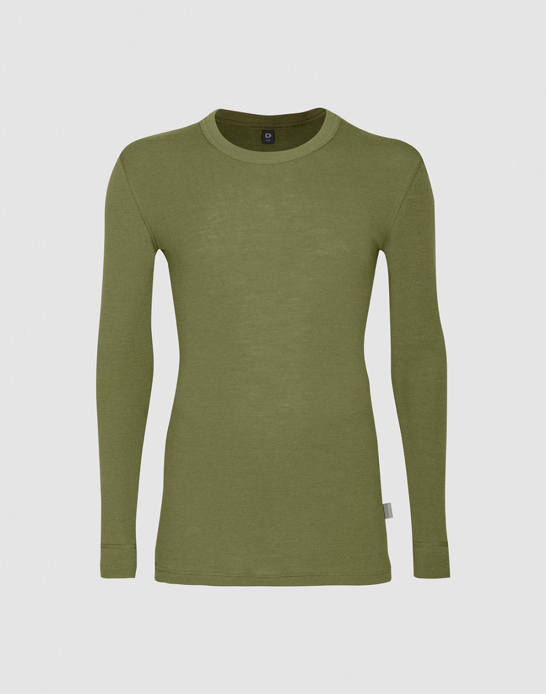 Herren Merino Longsleeve Shirt - Avocado Grün