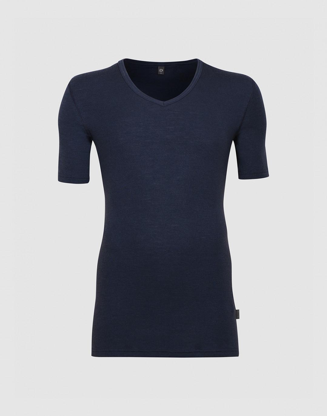 Herren T-Shirt mit V-Ausschnitt aus Merinowolle