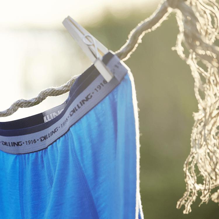 Waschanleitung für Woll-Unterwäsche