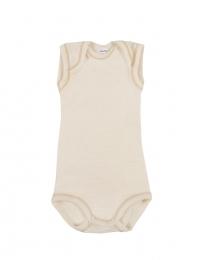 Merino Body ohne Ärmel für Babys natur