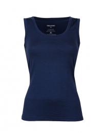 Damen Unterhemd aus exklusiver Wolle dunkelblau