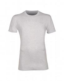 Baumwoll T-Shirt für Herren grau meliert
