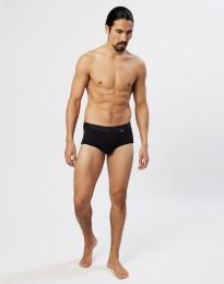 Premium Classic - Baumwoll Slip mit Eingriff für Herren schwarz