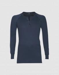 Premium Classic - Baumwoll Langarmshirt für Herren dunkelblau