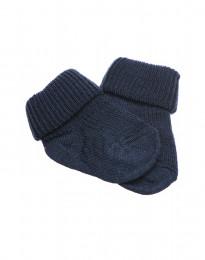 Baby Socken - natürliche Merinowolle taubenblau