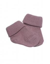 Baby Socken natürliche Merinowolle rosé