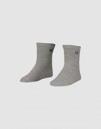 Kinder Socken - natürliche Merinowolle grau melange