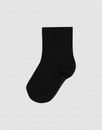 Kinder Socken - natürliche Merinowolle schwarz