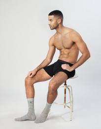 Herren Socken - natürliche Merinowolle grau melange