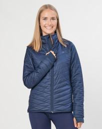 Outdoorjacke Damen - recyceltes Polyester/ Merinowolle dunkelblau