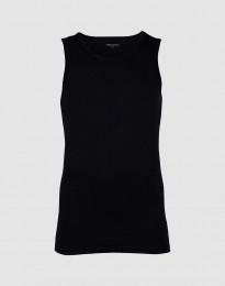 Herren Unterhemd aus Baumwolle schwarz
