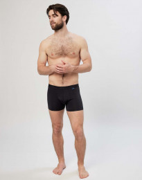 Microfaser Boxershorts für Herren schwarz