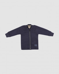 Baby Jacke aus Merino Wollfleece Blau