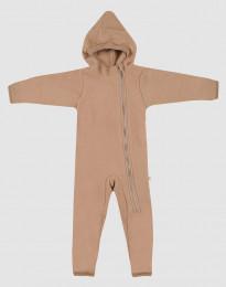 Baby Anzug aus Merino Wollfleece Zimt