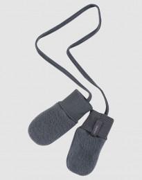 Handschuhe für Babys aus Wollfleece dunkelgrau