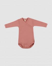 Wickelbody für Babys Dunkelrosa