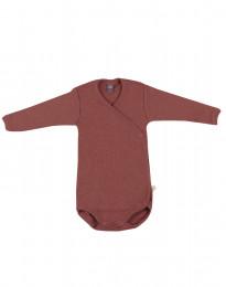 Wickelbody aus Merinowolle für Babys Rouge