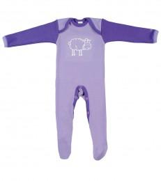 Merino Baby Strampler lila