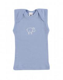 Baby Hemdchen - Bio Merinowolle blau