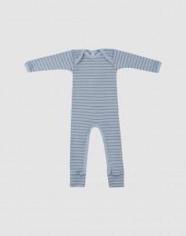 Merino Anzug für Babys blau gestreift
