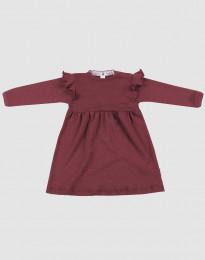 Wollkleid für Babys - natürliche Merinowolle weihnachtsrot