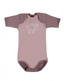 Baby Body kurzarm - Bio Merinowolle hellrosa