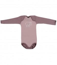 Langarm Baby Body - Bio Merinowolle hellrosa