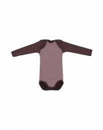 Langarm Baby Body - BIO Merinowolle Rosé