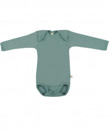 Baby Body langärmlig - Bio Merinowolle hellgrün
