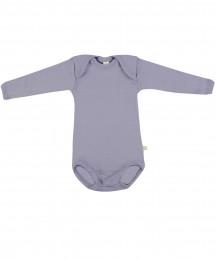 Baby Body langarm - Bio Merinowolle flieder