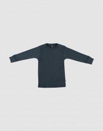 Merino Shirt in breitem Rippstrick dunkelpetrol
