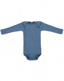 Gerippter Baby Body taubenblau