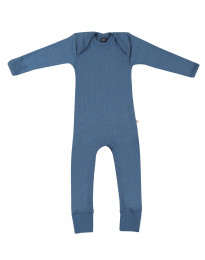 Merino Body in breitem Ripp taubenblau