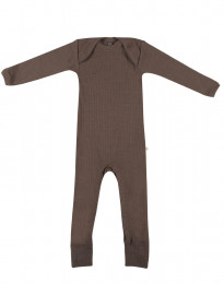 Merino Body in breitem Ripp fudge