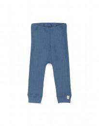 Rippstrick Leggings für Babys taubenblau