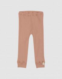 Merino Rippstrick Leggings für Babys Puder