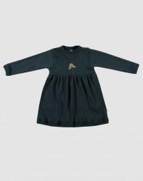 Rippstrick Kleid für Babys dunkelpetrol