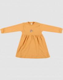 Rippstrick Wollkleid für Babys Gelb