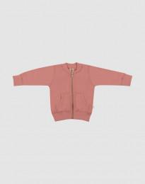 Baby Jacke aus Wollfrottee Rosa