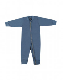 Baby Overall aus Wollfrottee taubenblau