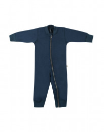 Baby Overall aus Wollfrottee dunkelpetrol