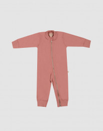 Baby Anzug aus Wollfrottee Rosa