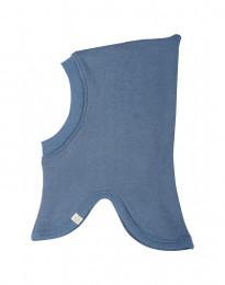 Schlupfmütze für Babys aus Wollfrottee taubenblau