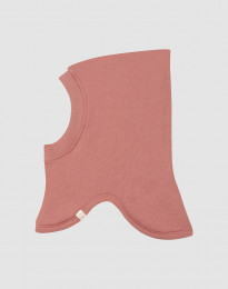 Schlupfmütze für Babys aus Wollfrottee Rosa