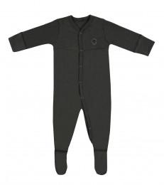 Baby Body mit Füßen aus Bio Baumwolle dunkelgrün