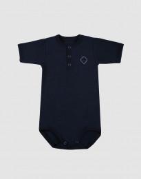 Kurzarm Baby Body aus natürlicher Baumwolle navy