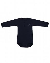 Langarm Baby Body aus natürlicher Baumwolle navy