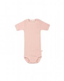 Kurzarm Baby Body aus natürlicher Baumwolle zartrosa