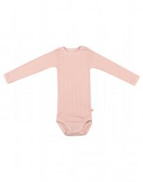 Langarm Baby Body aus natürlicher Baumwolle zartrosa