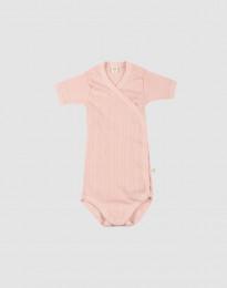 Wickelbody aus natürlicher Baumwolle für Babys zartrosa